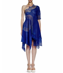 Noah One-Shoulder Mesh-Embroidered Dress by Stella McCartney in Girls Trip