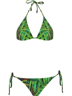 Stretch Reversible Foliage Print Bikini Set by Osklen in The Big Lebowski