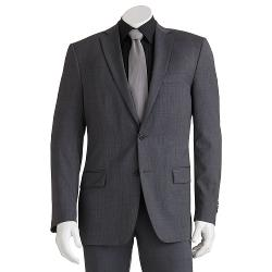 Modern-Fit Mini-Checked Gray Suit Jacket by Marc Anthony in Sabotage