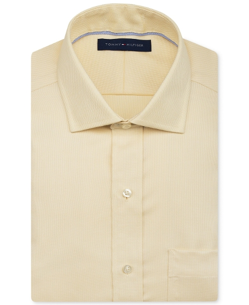 Non-Iron Solid Dress Shirt by Tommy Hilfiger in Love & Mercy