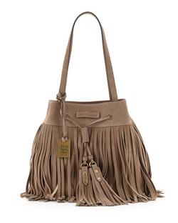 Frye Heidi Fringe Drawstring Shoulder Bag