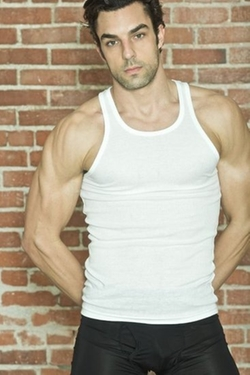 """""""Protector"""" Tank Top by Ribbed Tee in Ballers"""