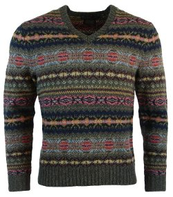 Mens Knit Wool/Alpaca Blend Crewneck Sweater by Polo Ralph Lauren in Prisoners