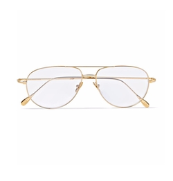 Statesman Aviator-Style Gold-Tone Optical Glasses by Kingsman + Cutler And Gross in Kingsman: The Golden Circle
