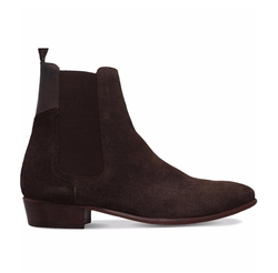 Watts Suede Chelsea Boots by H By Hudson in Empire