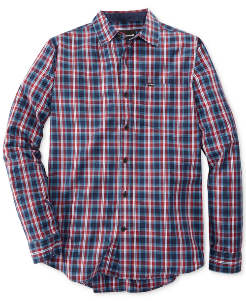 Tanner Long-Sleeve Plaid Shirt by Hurley in Neighbors