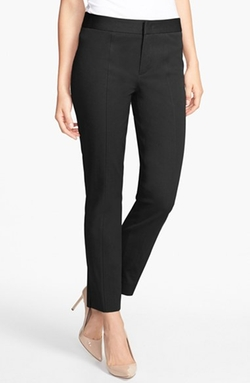 Two-Way Stretch Ankle Straight Leg Pants by NYDJ in Spy