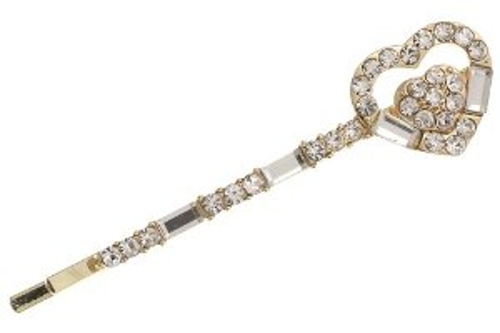 Heart Charm Crystals Hair Pin by PammyJ Necklace in The Best of Me