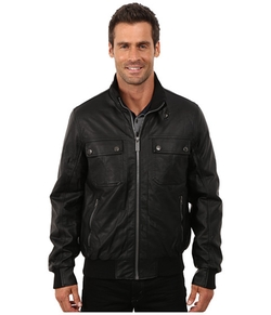 Zip Front Leather Jacket by Nautica in The Big Bang Theory