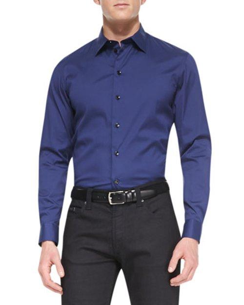 Stretch-Cotton Dress Shirt by Armani Collezioni in The Gunman