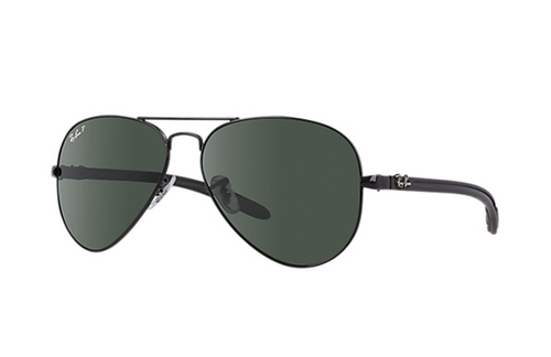 Carbon Fibre RB8307 Aviator Sunglasses by Ray-Ban in Ride Along
