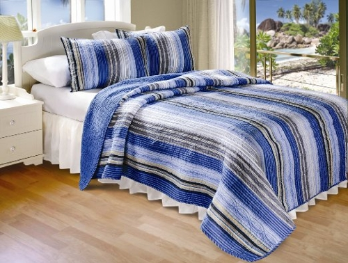 Brisbane Quilt Set Comforter by Greenland Home in Dope