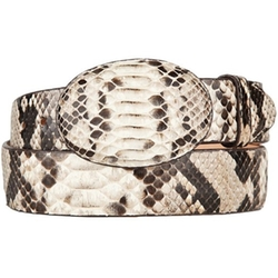 Python Skin Western Style Belt by King Exotic in Vacation