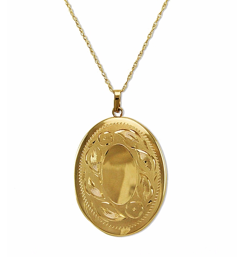 Engraved Oval Locket Necklace by Lord & Taylor in Lady Dynamite -  Preview