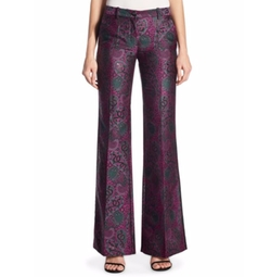 Paisley Jacquard Flare Pants by Roberto Cavalli in Empire