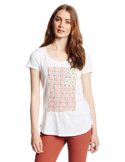 Women's Embellished Flag Tee by Lucky Brand in Dolphin Tale 2