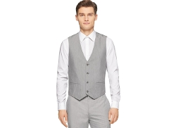 High-Low End-On-End Suit Vest by Calvin Klein in Self/Less