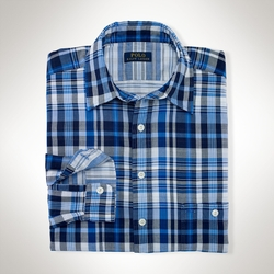 Classic-Fit Plaid Cotton Shirt by Ralph Lauren in A Walk in the Woods
