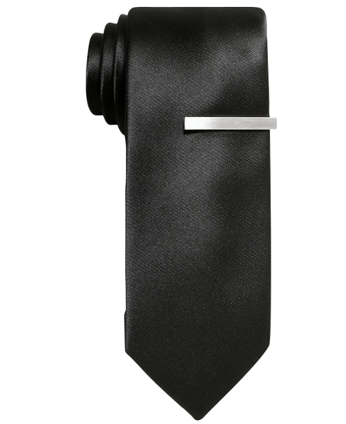 Solid Skinny Tie by Alfani Red in Absolutely Anything