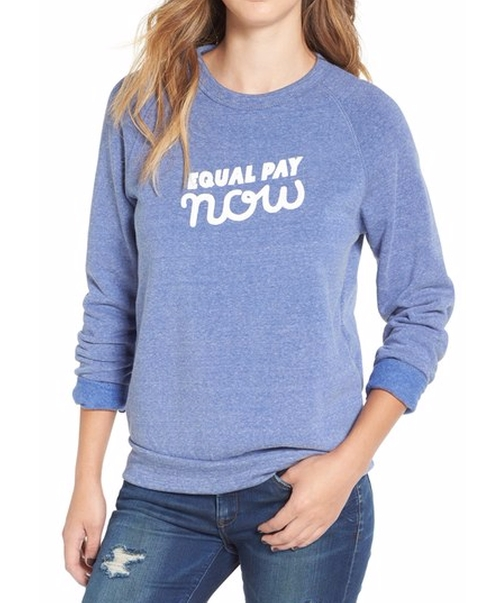 'Equal Pay Now' Graphic Sweatshirt by Rachel Antonoff in The Good Place - Season 1 Episode 5