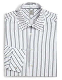 Regular-Fit Crosby Striped Dress Shirt by Ike Behar in The Blacklist