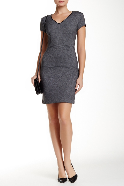 V-Neck Cap Sleeve Sheath Dress by Marc New York in The Flash - Season 2 Episode 10