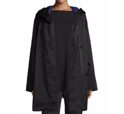 Reversible Hooded Raincoat by Eileen Fisher in Ghost in the Shell