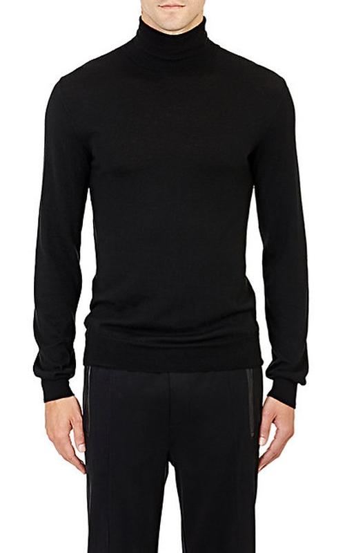 Fine-Gauge Knit Turtleneck Sweater by Ralph Lauren Black Label in Steve Jobs