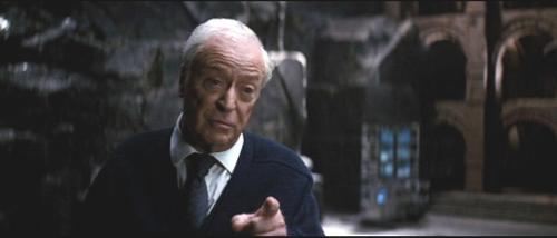 Custom Made Stripe Tie (Alfred) by Giorgio Armani in The Dark Knight Rises