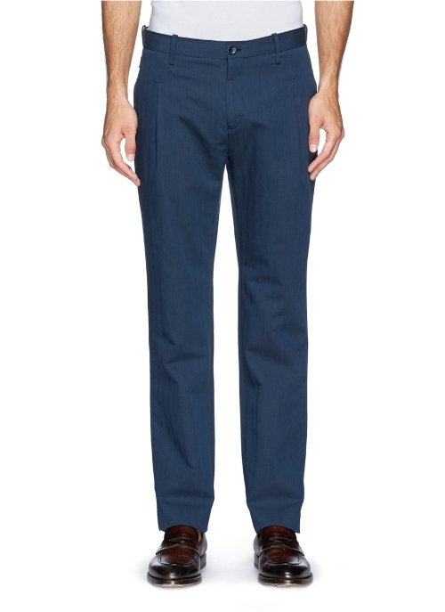 Pleat Wool-Linen Chino Pants by Armani Collezioni in Fantastic Four