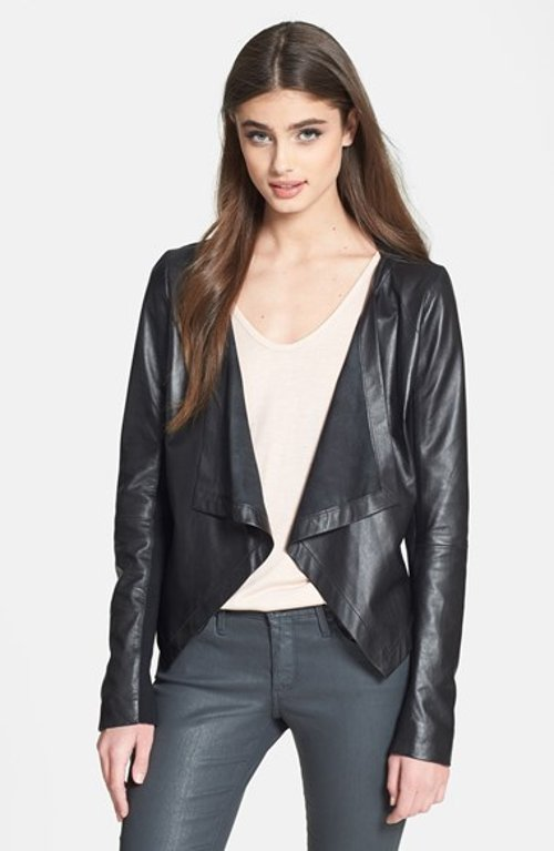 Cascade Leather Jacket by Trouve in Entourage