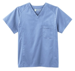 Men's Ultimate V-Neck Scrub Top by White Swan in Fight Club