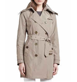 Removable Hood Balmoral Trenchcoat by Burberry Brit in Pretty Little Liars