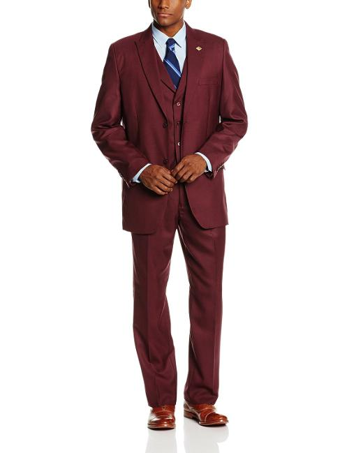 Men's Mart Vested 3 Piece Suit by Stacy Adams in Anchorman 2: The Legend Continues
