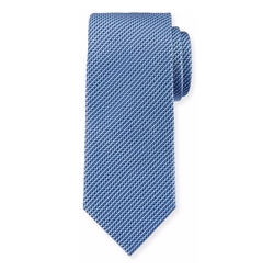 Micro-Neat Woven Silk Tie by Brioni in Suits