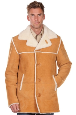 Men's El Dorado Shearling Sheepskin Coat by Overland Sheepskin Co in Modern Family