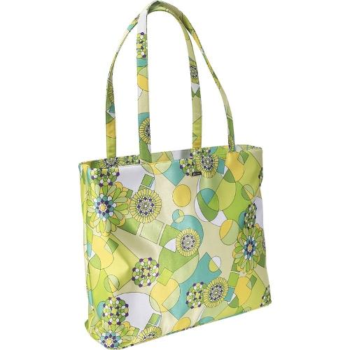 Lime Green Geometric Print Classic Tote by Bisadora in New Year's Eve
