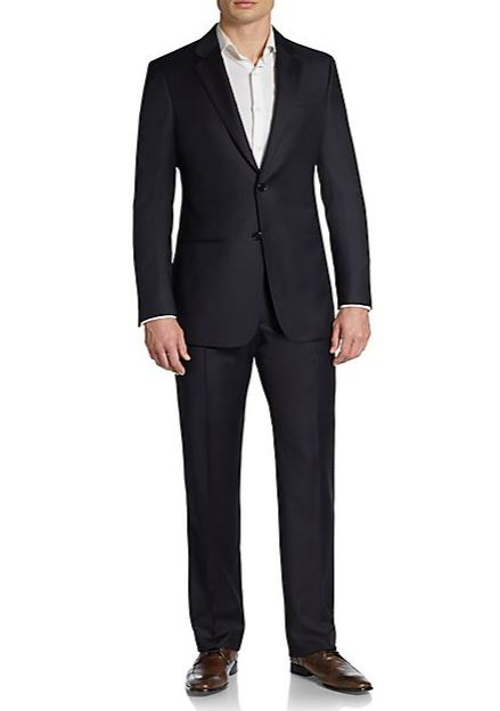 Regular-Fit Pindot Striped Wool Suit by Armani Collezioni in Mission: Impossible - Rogue Nation