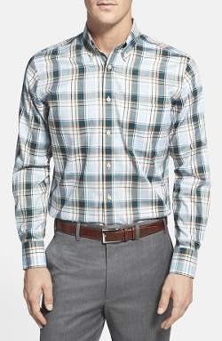 Tailored Fit Plaid Sport Shirt by Maker & Company in Fantastic Four