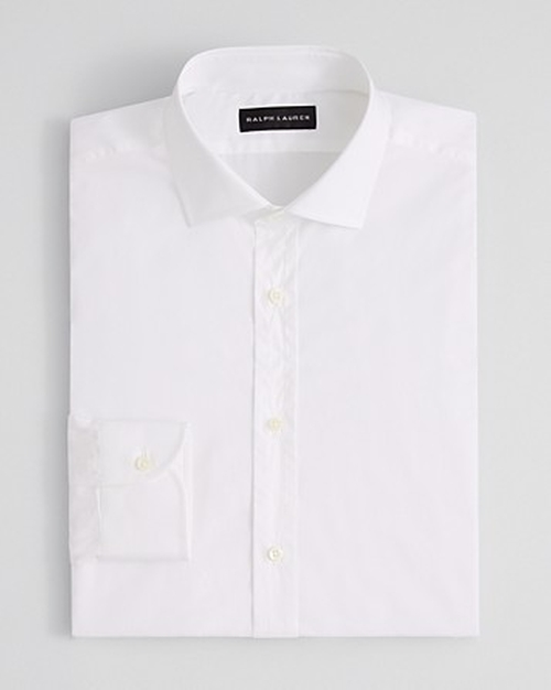 Solid Poplin Barrel Dress Shirt by Ralph Lauren Black Label in The Judge