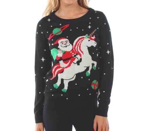 Santa Unicorn Sweater by TipsyElves in Fuller House - Season 2 Episode 12