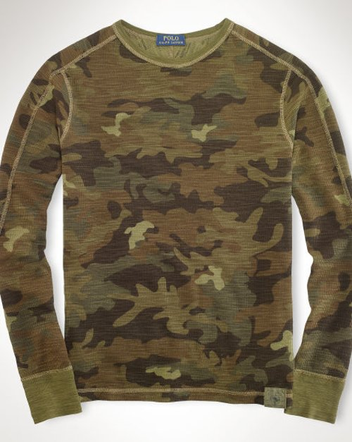 Camo Waffle-Knit Pullover Shirt by Ralph Lauren in Need for Speed
