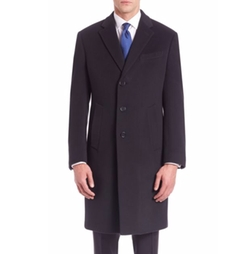 Wool & Cashmere Overcoat by Armani Collezioni in Suits