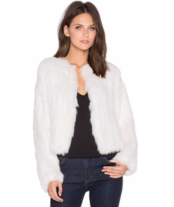 Moment Rabbit Fur Jacket by Elliatt in Scream Queens