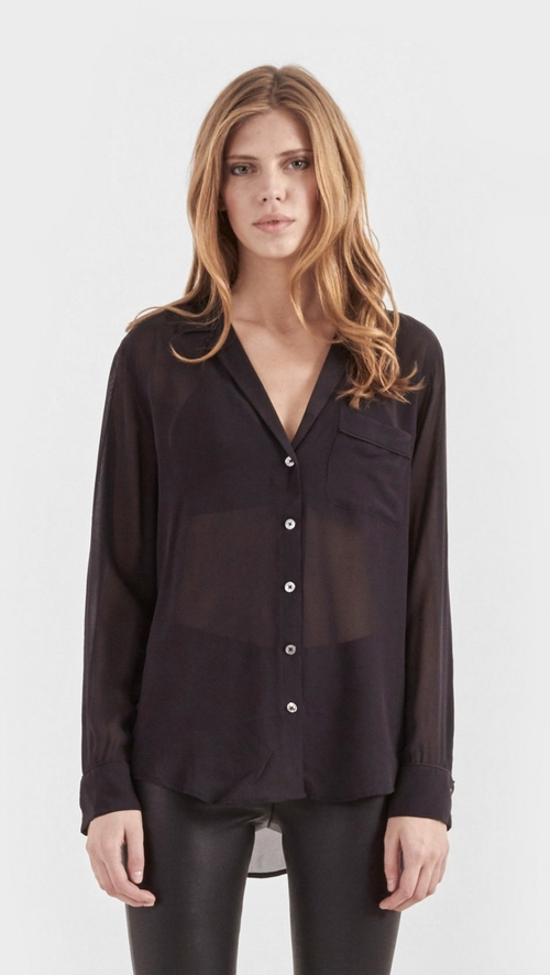 Keira Silk Shirt by Equipment in Clueless