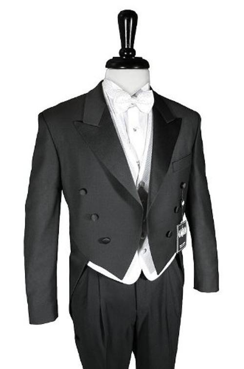 Men's 6 Button Peak Satin Lapel Tail Coat by Cardi in Lee Daniels' The Butler