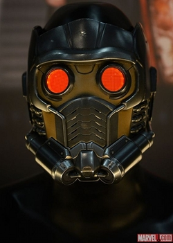 Custom Made Star Lord's Mask by Alexandra Byrne (Costume Designer) in Guardians of the Galaxy Vol. 2