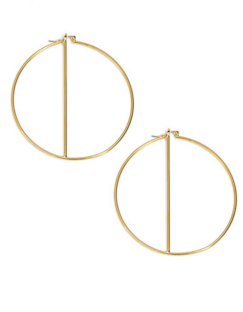 Large Bar Hoop Earrings by Trina Turk in Jem and the Holograms