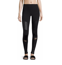 Moto High-Waist Sport Leggings by Alo Yoga in The Fate of the Furious