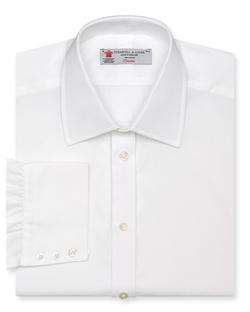 Solid Poplin Dress Shirt by Turnbull & Asser in Survivor